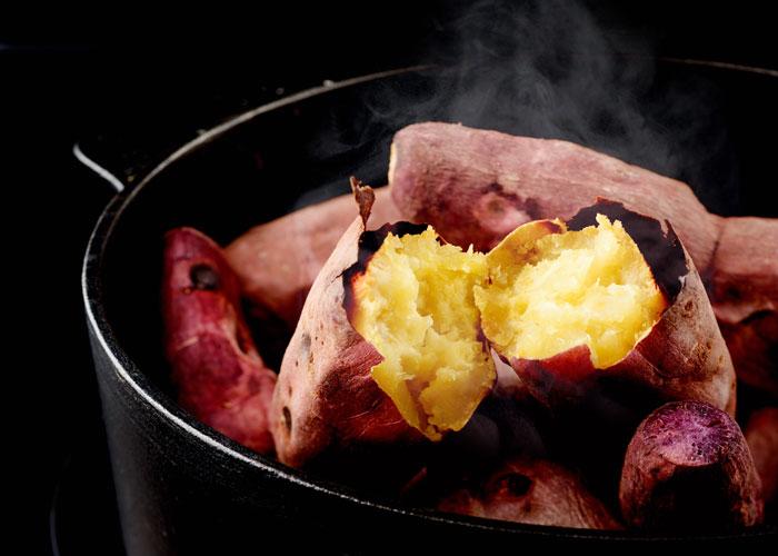 焼き芋をフライパンで再加熱